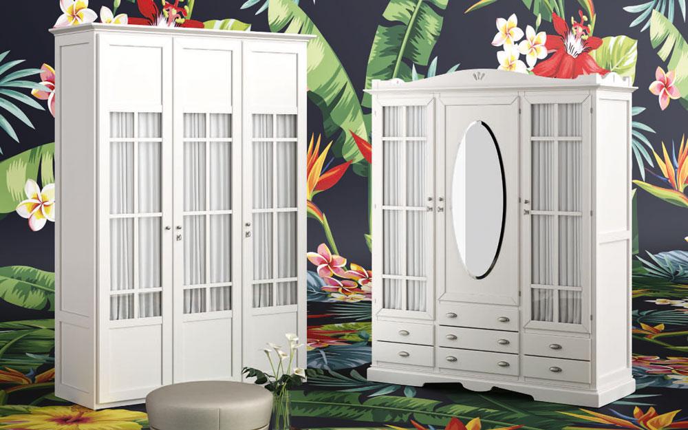 Armarios de puertas abatibles 11b-0001 color blanco vista de ambiente