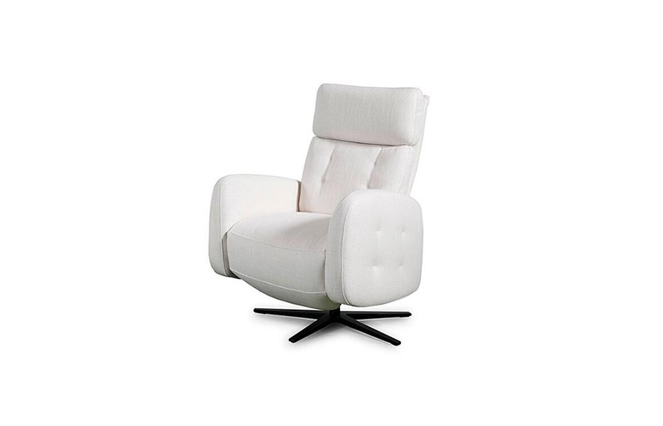 Butaca relax 10f-0001 color blanco vista técnica