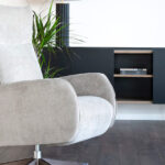 Butaca relax 10f-0002 color gris vista ambiente