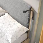 Cama simple juvenil 12f-0003 color roble montana y blanco detalle