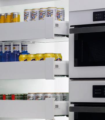 Detalle de gavetas de cocina