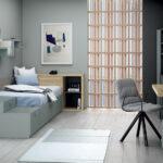 Escritorio integrado en dormitorio 13a-0002 madera vista general
