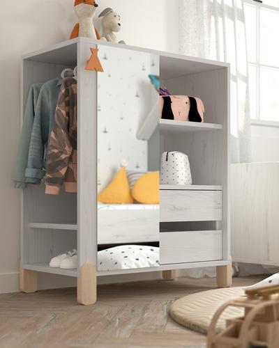 Armario montessori kids 12i-0001 color gris y beige vista de detalle