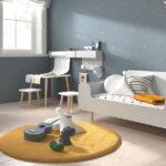 Cama convertible dormitorio bebé 12i-0002 color beige vista completa