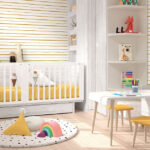 Cuna convertible dormitorio bebé gemelos 12i-0003 color gris vista completa alta
