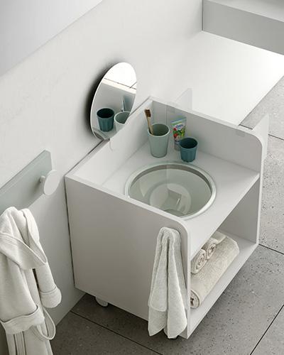 Mueble higiene montessori kids 12i-0001 color blanco vista de detalle