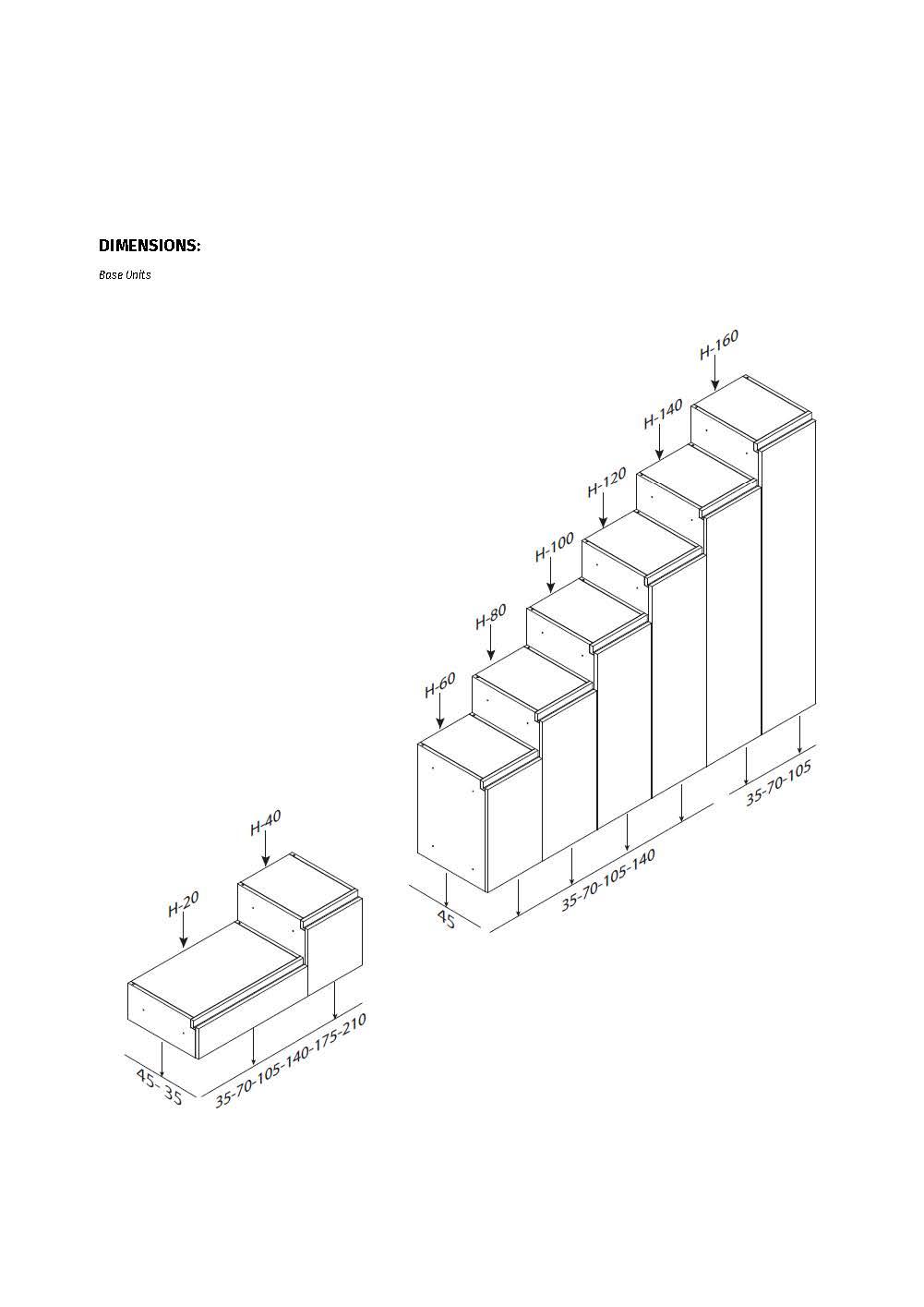 Medidas y datos técnicos módulo de salón