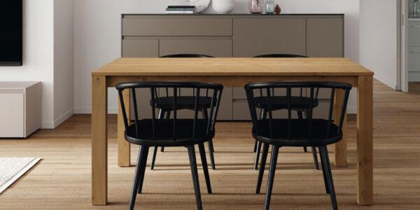 Mesa de comedor 14b-0002 madera vista general