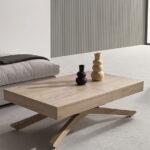 Mesa elevable 14e-0003 madera claro vista de detalle