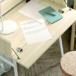 Mueble recibidor abatible 13a-0001 color blanco y madera vista de detalle abierto