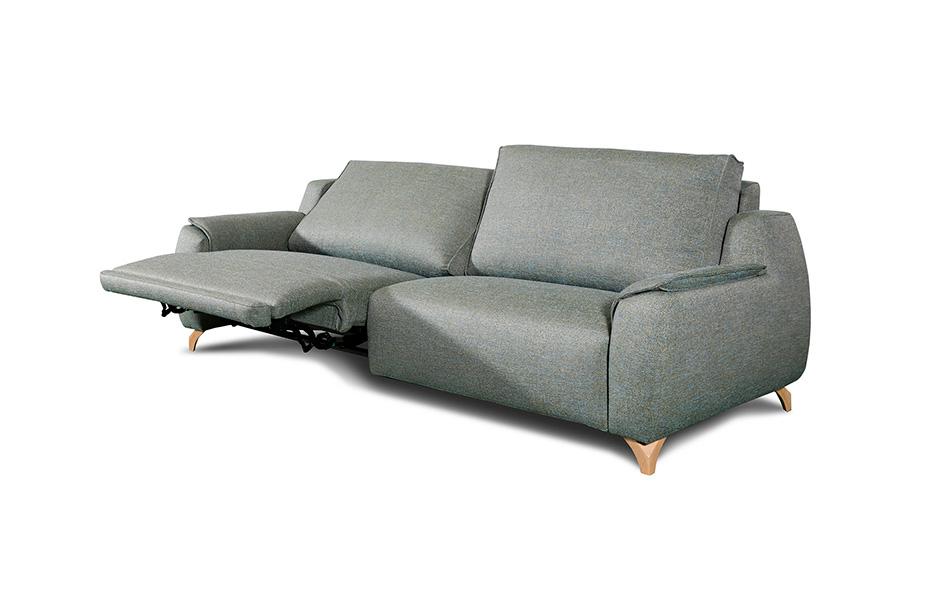 Sofá 2-3 plazas 10d-0014 gris blanco vista detalle