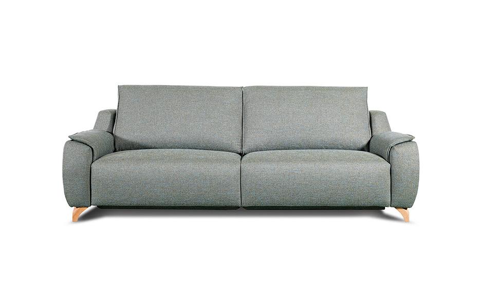 Sofá 2-3 plazas 10d-0014 color gris vista frontal
