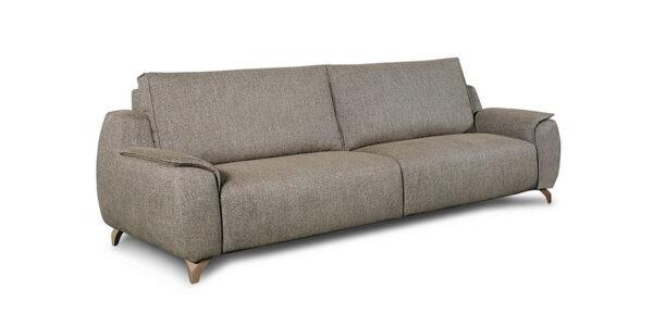 sofá 2-3 plazas 10d-0014 con tapizado marrón vista técnica