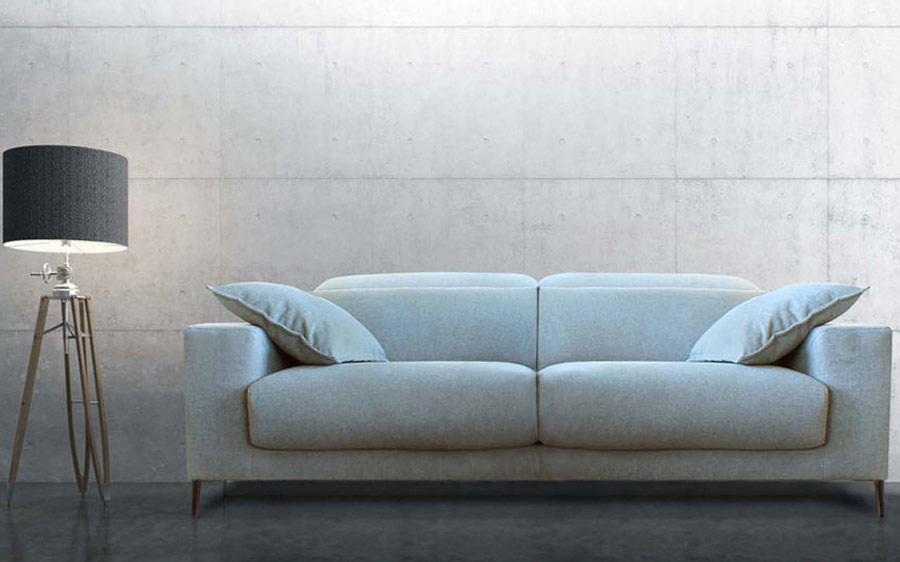 Sofá 2-3 plazas 10b-0001 con tapizado azul vista frontal