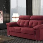 Sofá cama 2-3 plazas 10e-0001 color rojo vista de ambiente