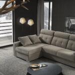Sofá cama chaiselongue 10e-0001 color gris vista de ambiente