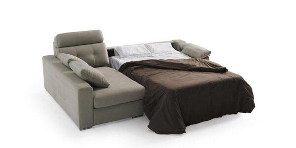 Sofá cama chaiselongue 10e-0001 color gris vista técnica de la cama