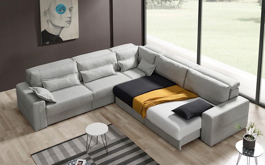 Sofá rinconera deslizante 10e-0007 color gris vista ambiente top