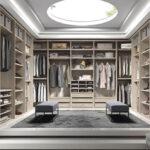 Vestidor abierto 11b-0003 madera beige vista frontal