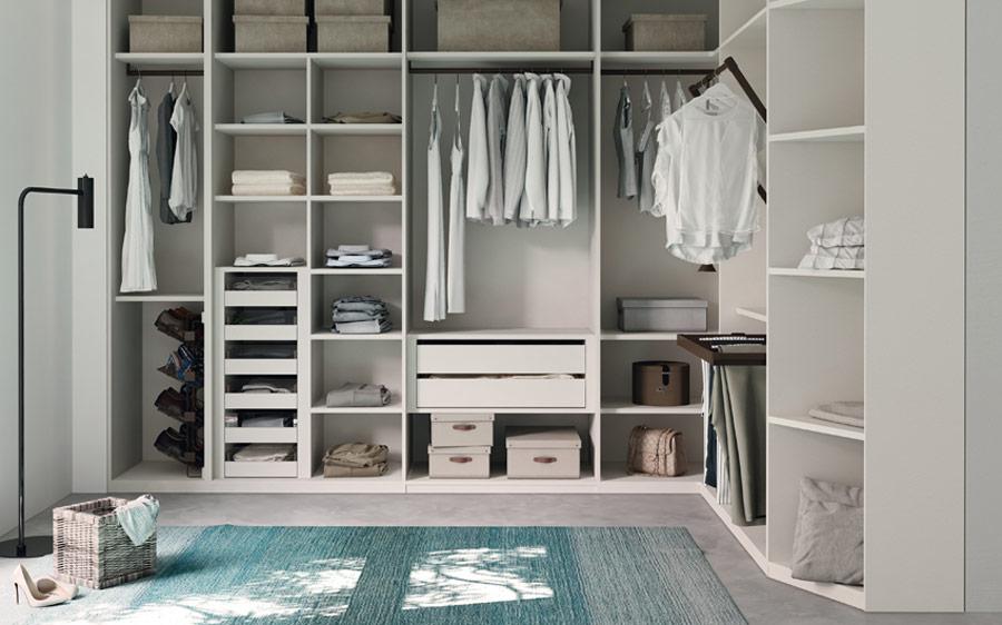 Vestidor abierto de dormitorio 11b-0003 color blanco vista frontal