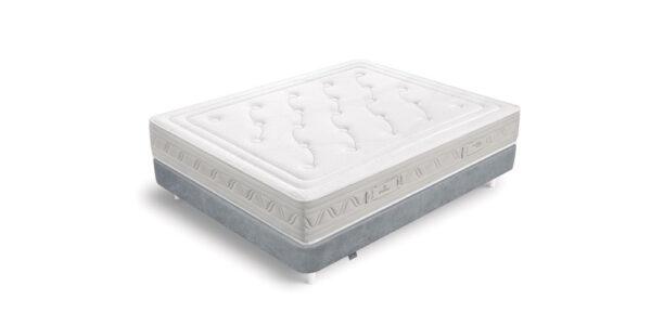 Colchón de muelles ensacados 16a-0005 color blanco y gris vista técnica