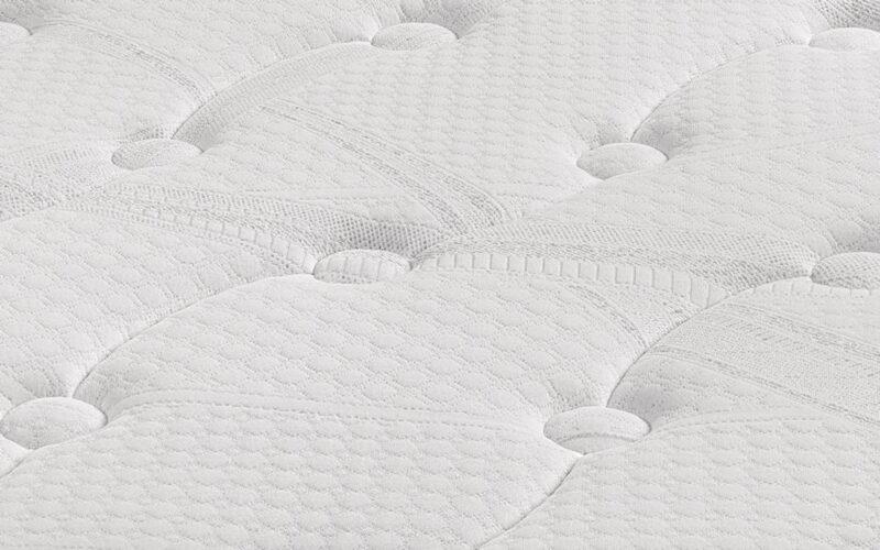 Colchón de base de muelles ensacados 16a-0005 blanco vista de detalle