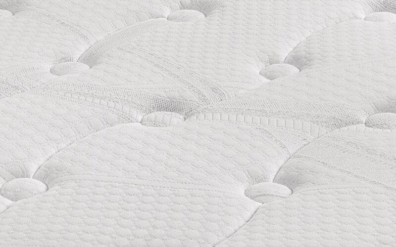 tapizado colchon de muelles ensacados 16a-0006 blanco vista detalle