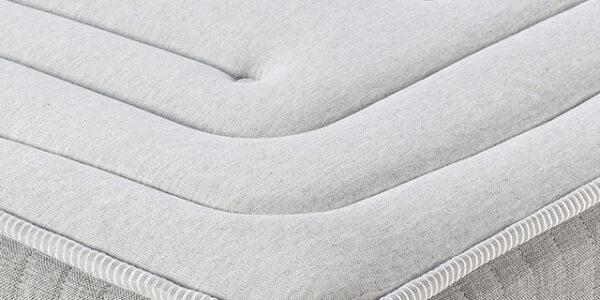 esquina de colchon de muelles ensacados 16a-0009 blanco vista detalle