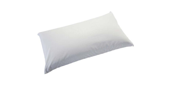 Almohada fibra de doble hueco 16d-0004 color blanco vista técnica