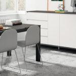 Aparador y mesa de salón 14c-0011 color negro y blanco vista ambiente