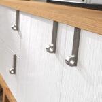 Aparador de salón 14c-0015 madera y blanco vista de detalle