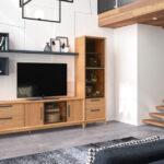 Aparador y vitrina de salón 14c-0018 madera vista de ambiente