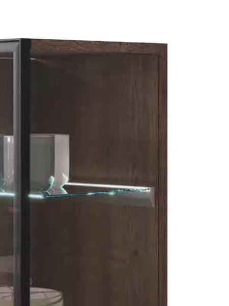 Vitrina de aparador 14c-0004 negro y cristal vista de detalle