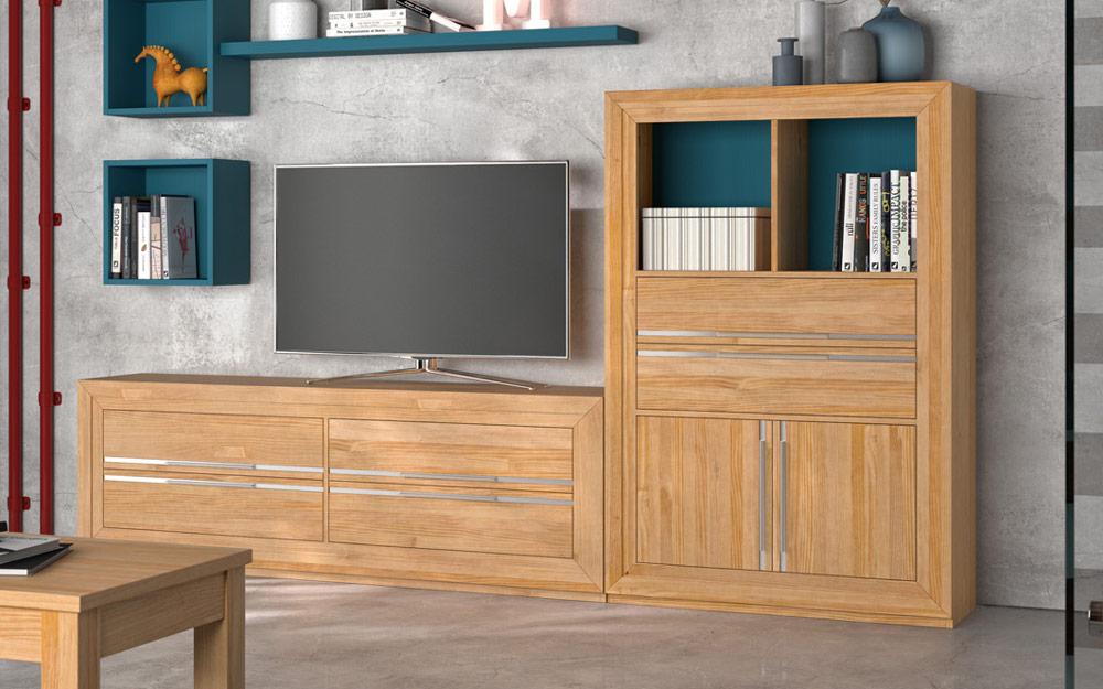 Aparador de salón 14c-0022 madera vista de detalle