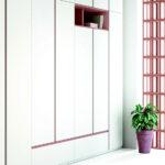 Armario de dormitorio juvenil 12f-0006 color rosa y blanco vista de detalle