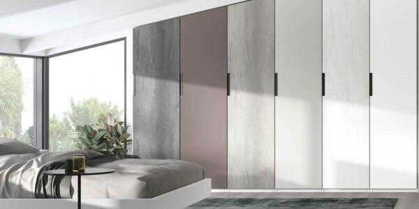 Armario de dormitorio de matrimonio 11b-0002 madera de colores en pendiente