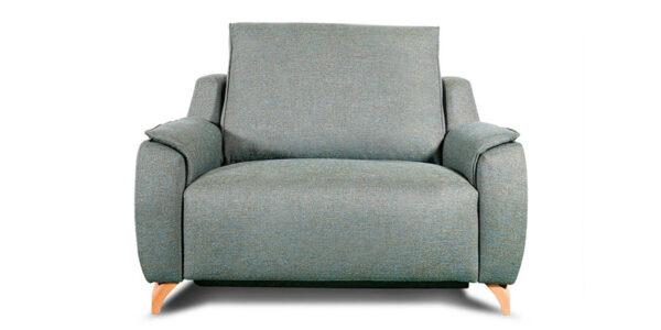 Butaca relax 10f-0003 color verde vista técnica frontal