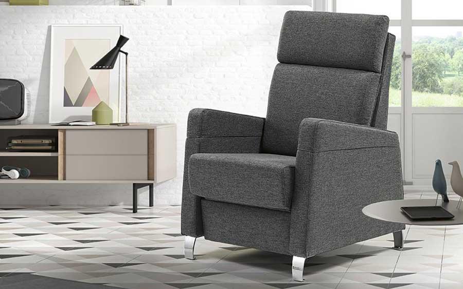 Butaca relax 10f-0004 color gris vista de ambiente
