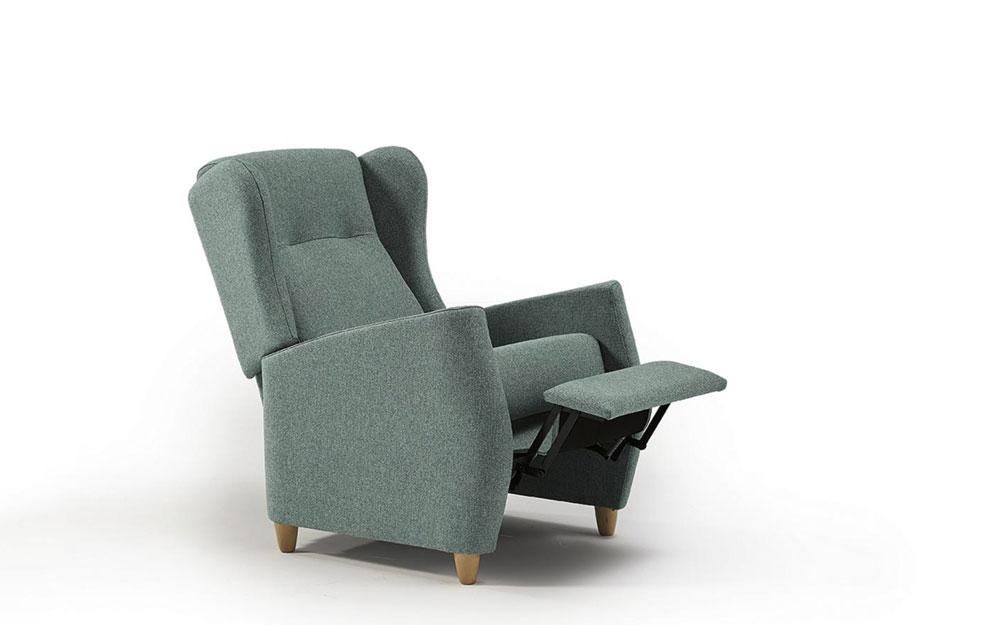 Butaca relax 10f-0005 color verde vista de detalle relax