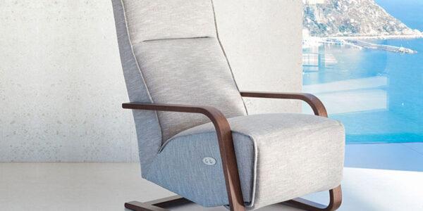 Butaca relax 10f-0007 color gris vista ambiente