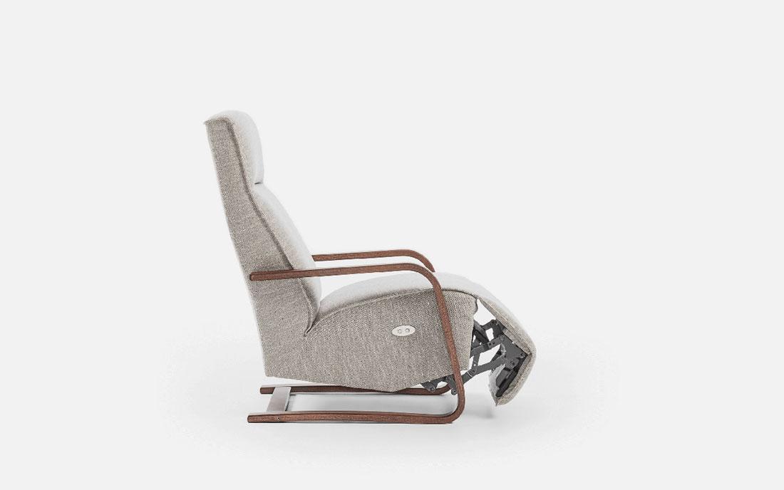 Butaca relax 10f-0007 color gris vista de detalle posición 1