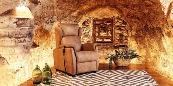 Butaca relax 10f-0009 color marrón vista ambiente