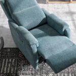 Butaca relax 10f-0011 color azul vista de detalle abierto