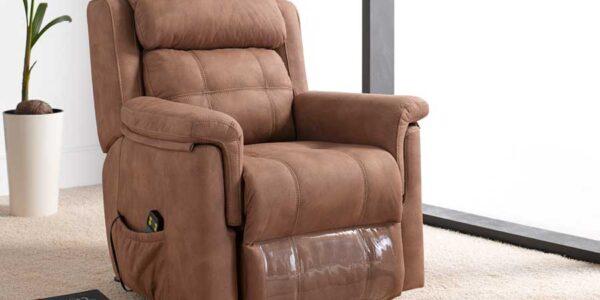 Butaca relax 10f-0012 color marrón vista de ambiente