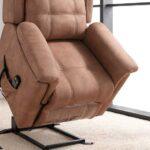 Butaca relax 10f-0012 color marrón vista de detalle de posición