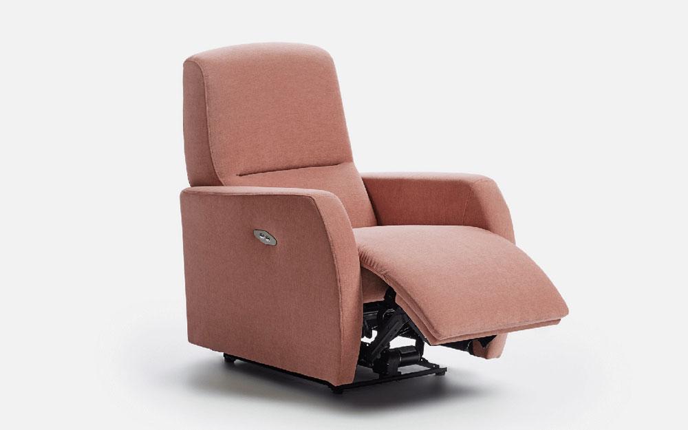 Butaca relax 10f-0013 color rosa vista detalle de posición 1