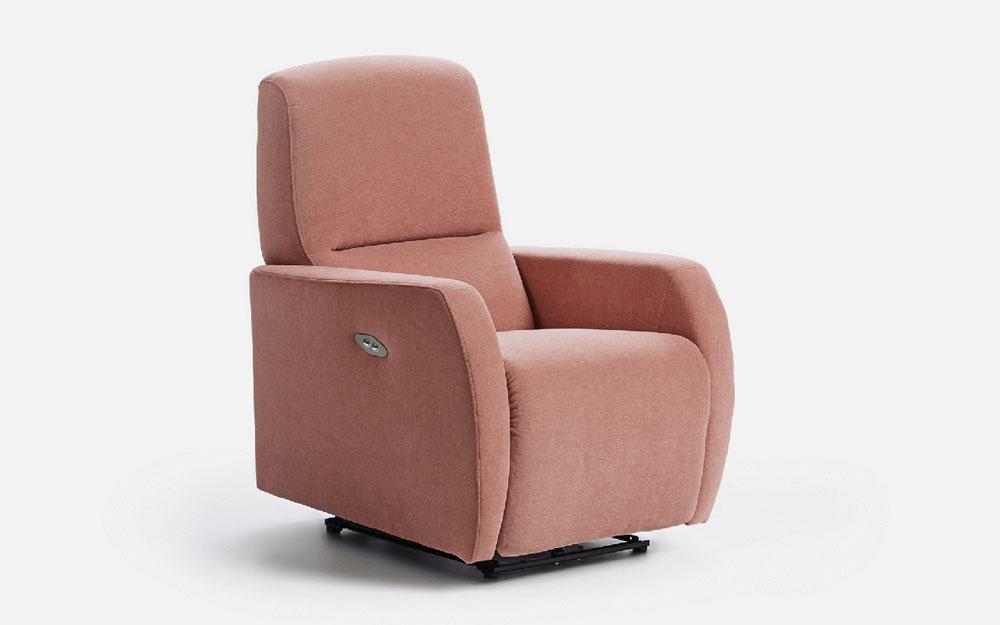Butaca relax 10f-0013 color rosa vista técnica