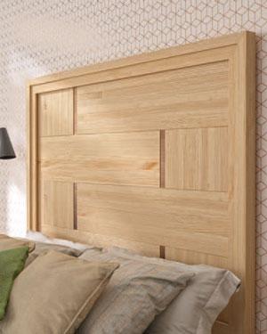 Cabecero de dormitorio de matrimonio 11a-0078 en madera vista de detalle