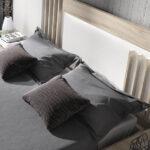Cabecero de dormitorio 11a-0025 color blanco y madera vista de detalle