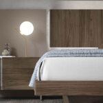 Cama de dormitorio 11a-0019 color beige y madera vista de detalle